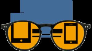 Foxmans blue-light blocking computer glasses Heavy Duty Lens