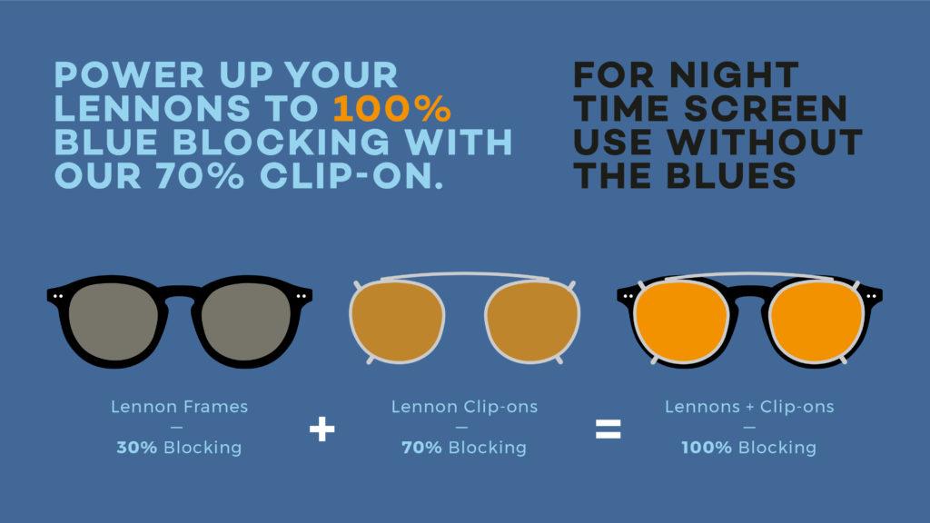 Foxmans blue-light blocking computer glasses clipons